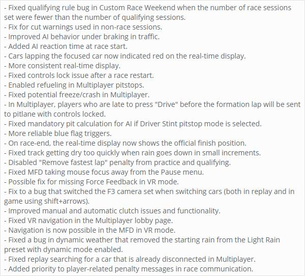 Assetto Corsa Competizione Changelog 0.7.2