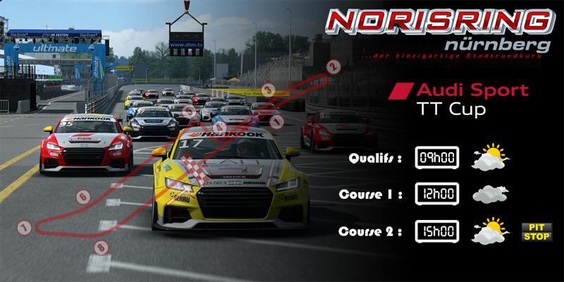 Audi TTcup 2016 RaceRoom Norisring 28-03-2017