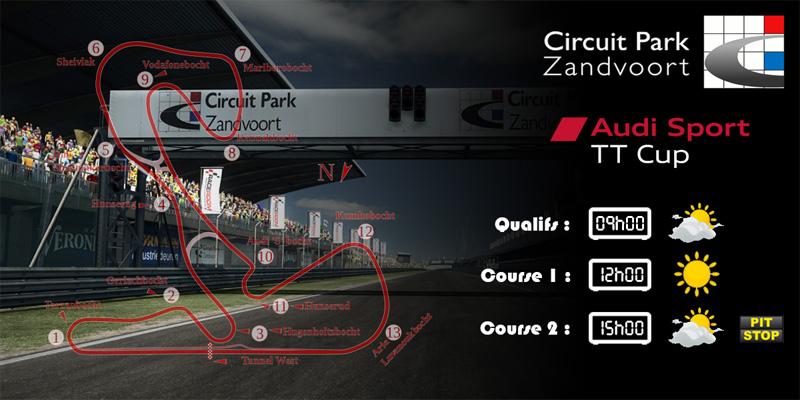 Audi TTcup 2016 RaceRoom Zandvoort 11-04-2017