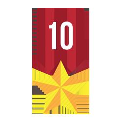 Nombre de top5 en course