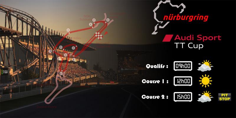 Audi TTcup 2016 RaceRoom Nurburgring sprint 25-04-2017