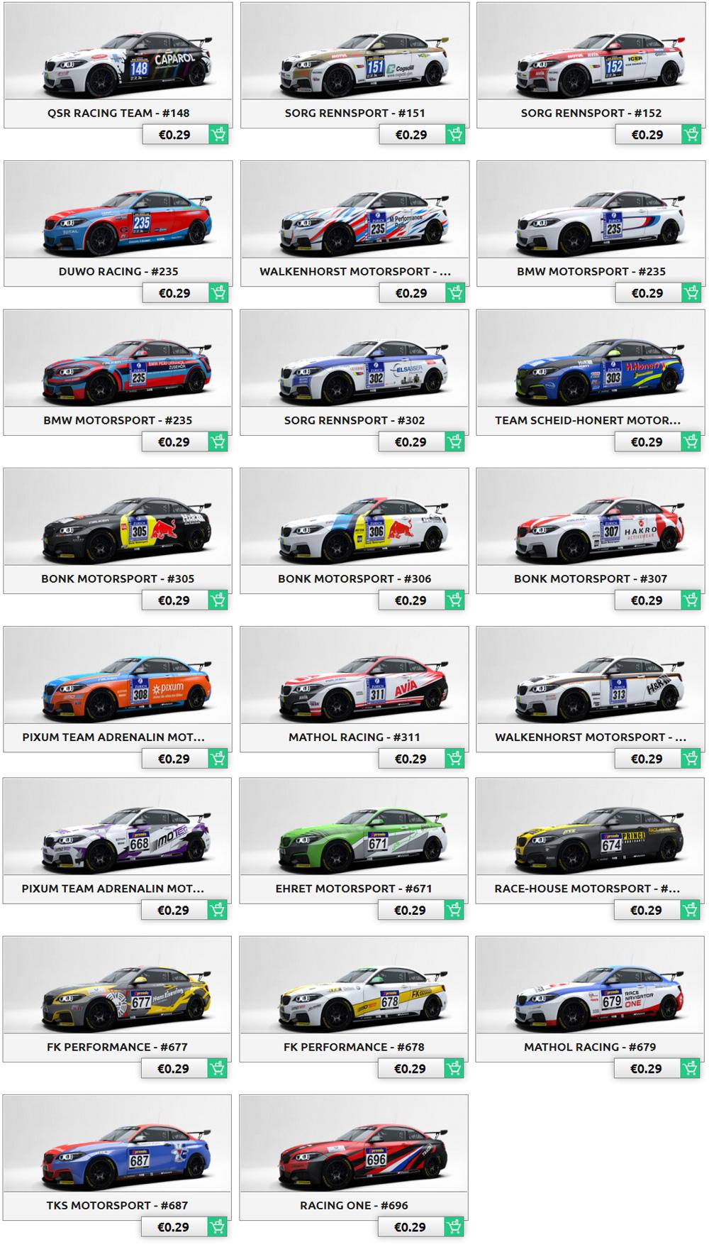 bmw m235i racing cup skin