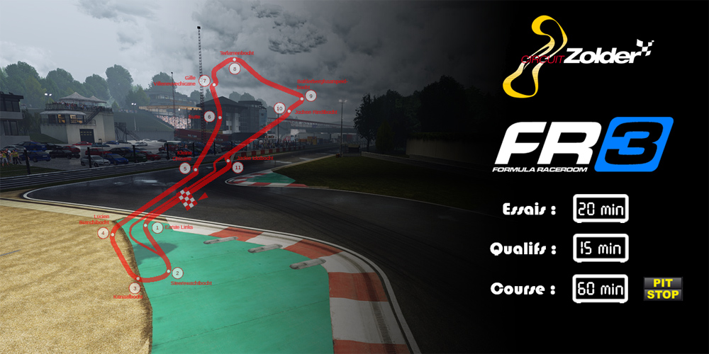 SRFR Formula RaceRoom 3 Zolder 29-08-2017