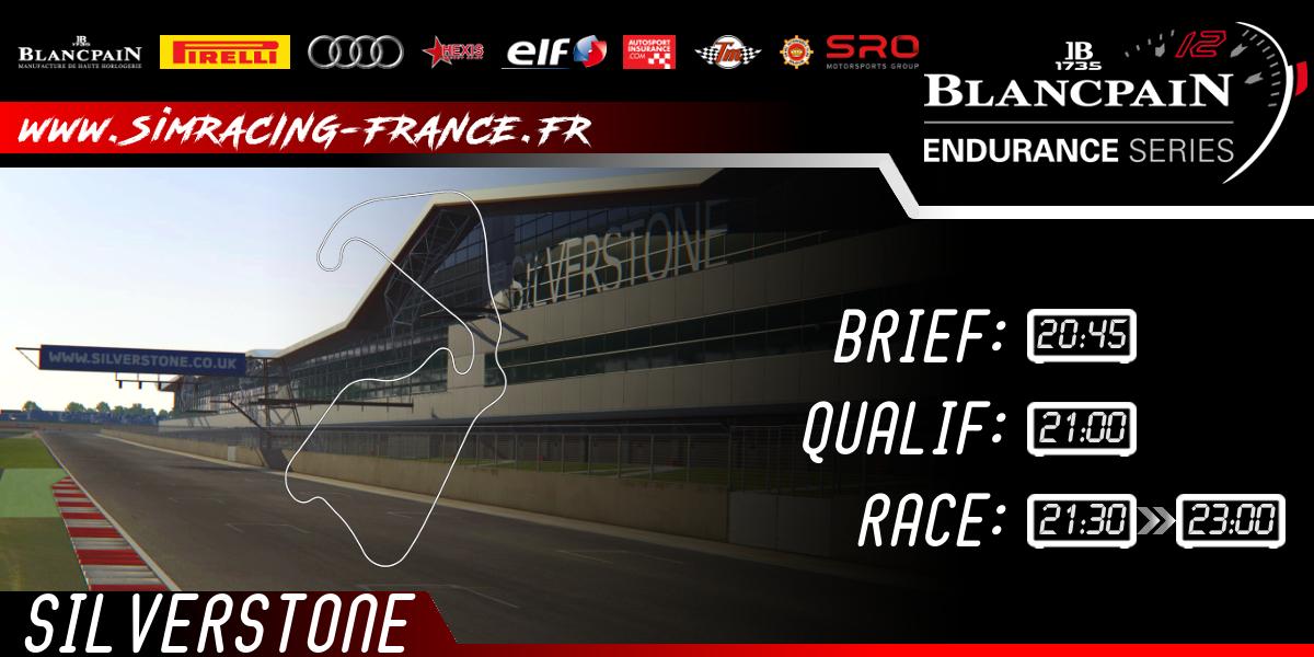 Blancpain GT – Endurance Silverstone – 11 Octobre 2017