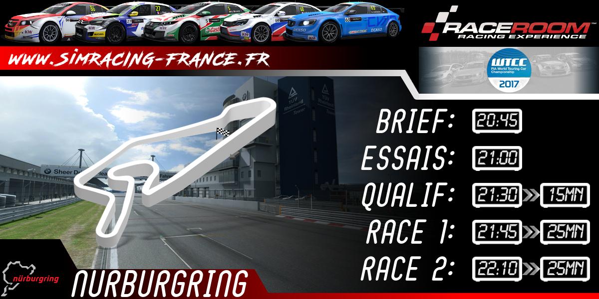 RaceRoom WTCC 2017 – Nurburgring short – 16 OCTOBRE 2017