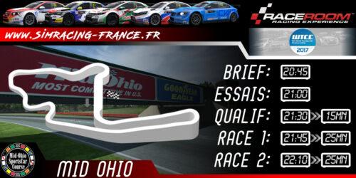RaceRoom WTCC 2017 – MID-OHIO FULL – 13 NOVEMBRE 2017