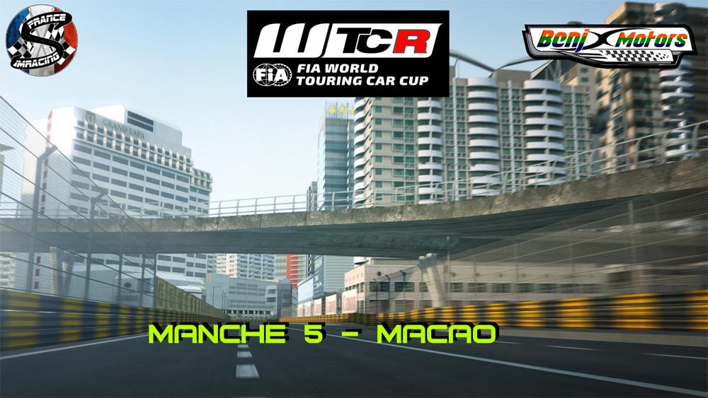 SRFR – FIA WTCR 2018 Manche 5 : Macao – 01 Novembre 2018