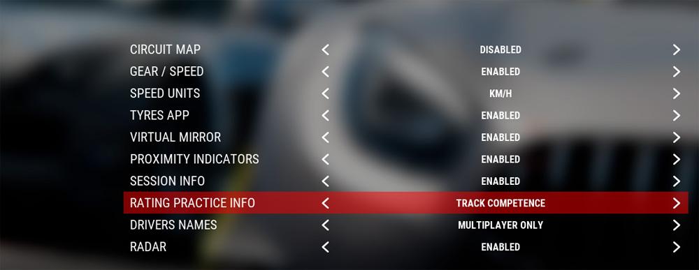 Track competence Assetto Corsa Compétizione