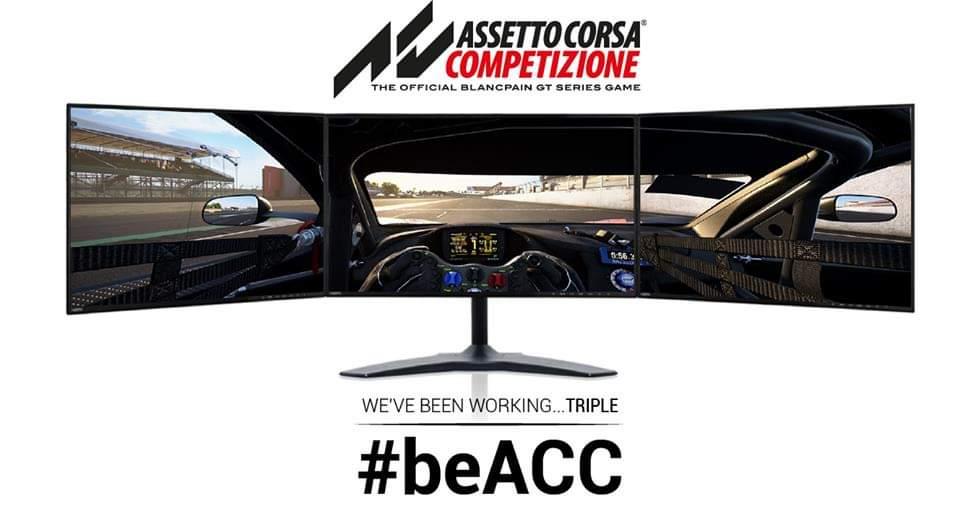 Assetto Corsa Compétizione est le triple screen