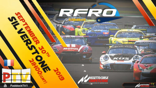 RFRO GT3 Series Part 2 2019 Meeting 2 : Silverstone