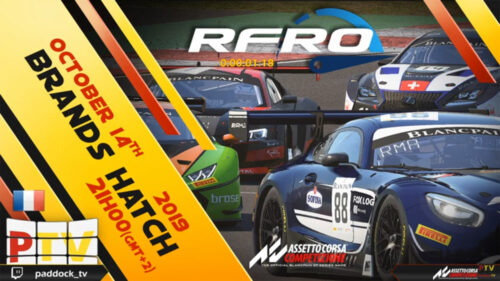 RFRO GT3 Series Part 2 2019 Meeting 3 :  Brands Hatch GP