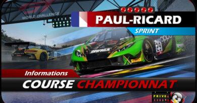 Simracingclub Europa GT meeting 4 : Paul Ricard 2021